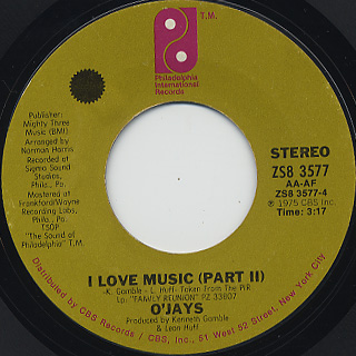 O'Jays / I Love Music back