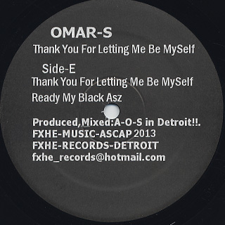 Omar-S / Thank You For Letting Me Be Myself Part.2 (2LP)