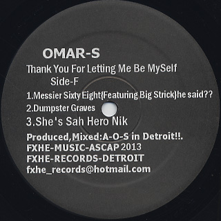Omar-S / Thank You For Letting Me Be Myself Part.2 (2LP) back