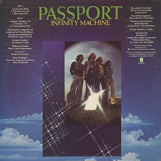 Passport / Infinity Machine back