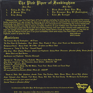 Pied Piper Of Funkingham / The Pied Piper Of Funkingham back
