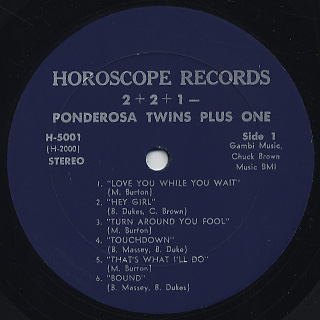 Ponderosa Twins Plus One / 2+2+1= label