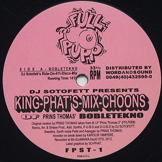 Prins Thomas / Dj Sotofett Pres. King-phat's Mix choons