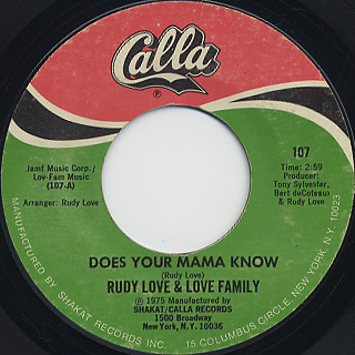 Rudy Love & Love Family / Does Your Mama Know c/w Housewife Blues