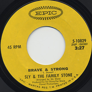 Sly & The Family Stone / Brave & Strong back