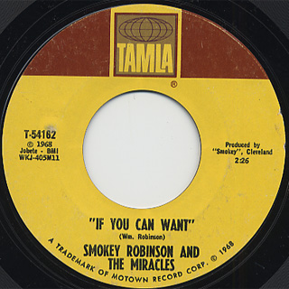 Smokey Robinson And Miracles / When The Words From~ c/w If You Can Wait back