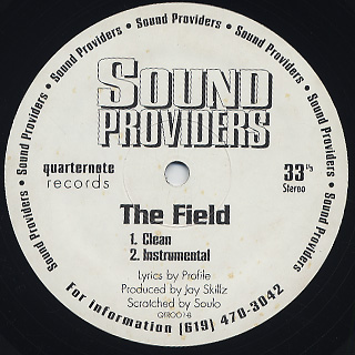 Sound Providers / The Field back