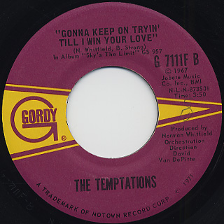 Temptations / Superstar (Remember How You Got Where You Are) back