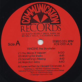 Vincent / The Storyteller label
