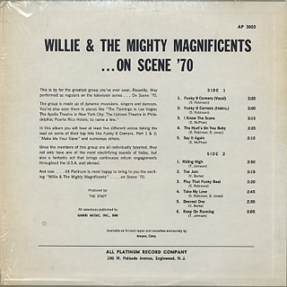 Willie and The Mighty Magnificents / ... On Scene '70 back