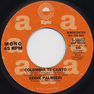 Eddie Palmieri / Colombia Te Canto back