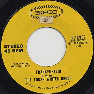 Edgar Winter Group / Frankenstein c/w Undercover Man