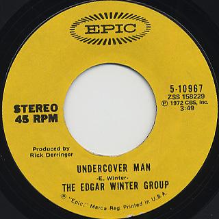 Edgar Winter Group / Frankenstein c/w Undercover Man back