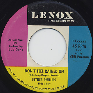 Esther Phillips / Release Me c/w Don't Feel Rained On back