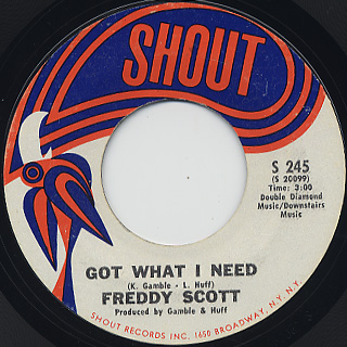 Freddy Scott  / Got What I Need front