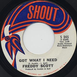 Freddy Scott  / Got What I Need