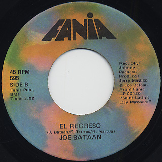 Joe Bataan / Shaft c/w El Regreso back
