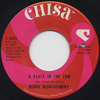Monk Montgomery / A Place In The Sun c/w Your Love (LP / Chisa ...