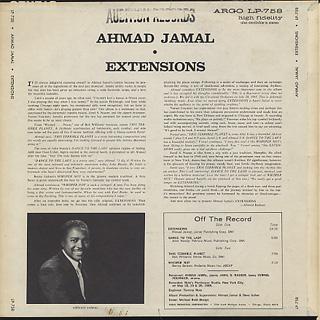 Ahmad Jamal / Extentions back