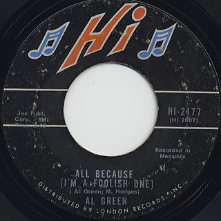 Al Green / Right Now Right Now back