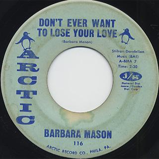 Barbara Mason / Is It Me? back