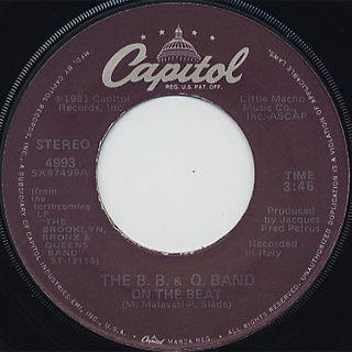 B.B. & Q. Band / On The Beat c/w Don't Say Goodbye front