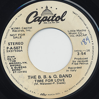 B.B. & Q. Band / Time For love