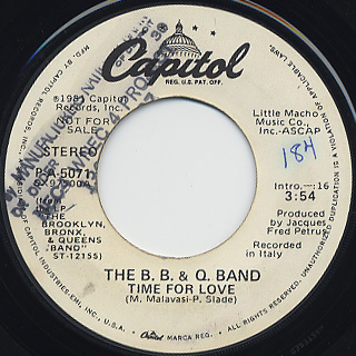 B.B. & Q. Band / Time For love back