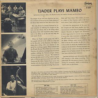 Cal Tjader / Tjader Plays Mambo back