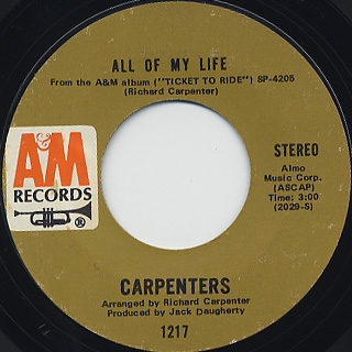 Carpenters / We've Only Just Begun back