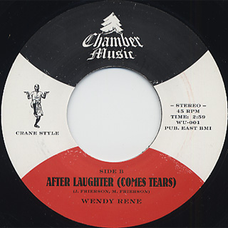 Charmels / As Long As I've Got You c/w Wendy Rene / After Laughter back
