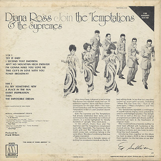 Diana Ross & The Supreme Join The Temptations / S.T. back