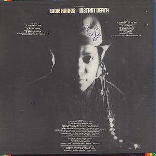 Eddie Harris / Instant Death back