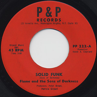 Flame And The Sons Of Darkness / Solid Funk