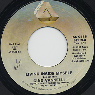 Gino Vanelli / Stay With Me c/w Living Inside Myself back