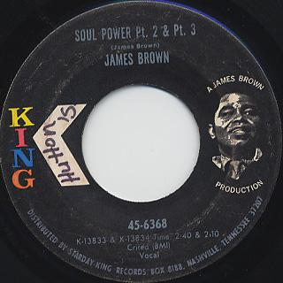 James Brown / Soul Power pt.1 c/w Pt.2 And Pt.3 back