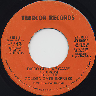J.D. & The Golden Gate Express / Poppa Got Caught back