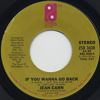 Jean Carn / If You Wanna Go Back