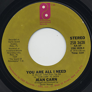 Jean Carn / If You Wanna Go Back back
