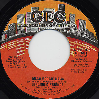 Jerline & Friends / Disco Boogie Mama front