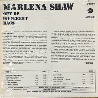 Marlena Shaw / Out Of Different Bags back
