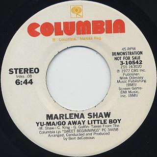 Marlena Shaw / Yu-Ma/Go Away Little Boy c/w Go Away Little Boy