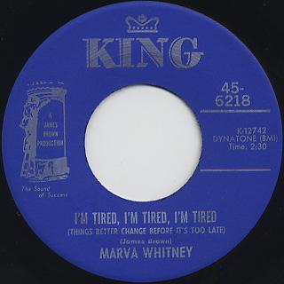 Marva Whitney / I'm Tired, I'm Tired, I'm Tired