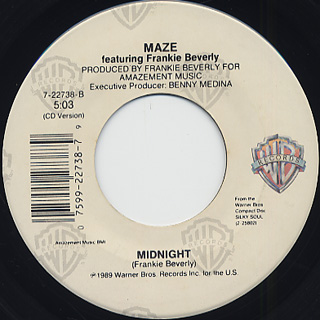 Maze featuring Frankie Beverly / Silky Soul c/w Midnight back