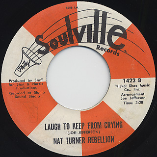 Nat Turner Rebellion Featuring Major Harris / Can't Go On Livin back