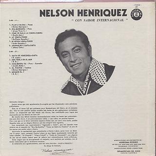 Nelson Henriquez / Con Sabor Internacional back