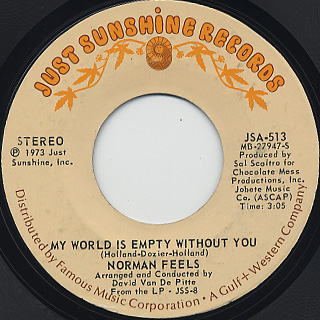 Norman Feels / My World Is Empty without You (7inch), Just ...