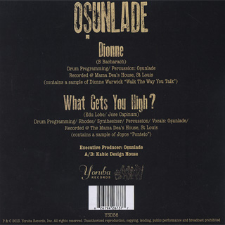 Osunlade / Dionne c/w What Gets You High? back