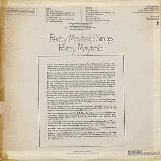 Percy Mayfield / Percy Mayfield Sings back