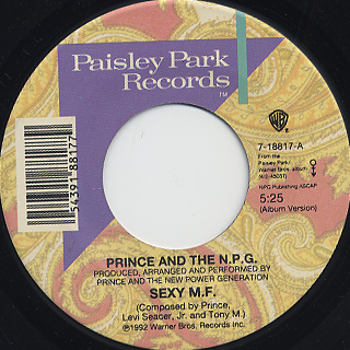 Prince And The N.P.G. / Sexy M.F. c/w Strollin'